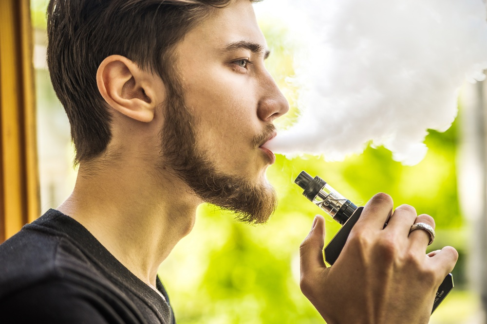 a man vaping