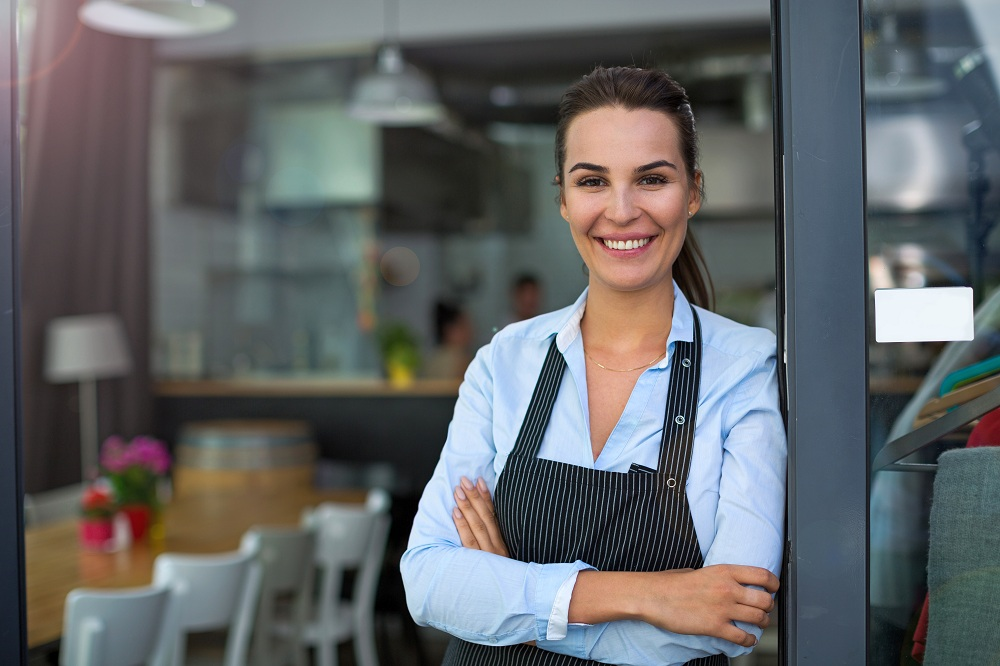 Business owner in her restaurant