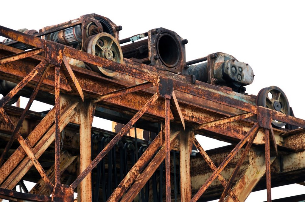 Rusty marble industrial machine